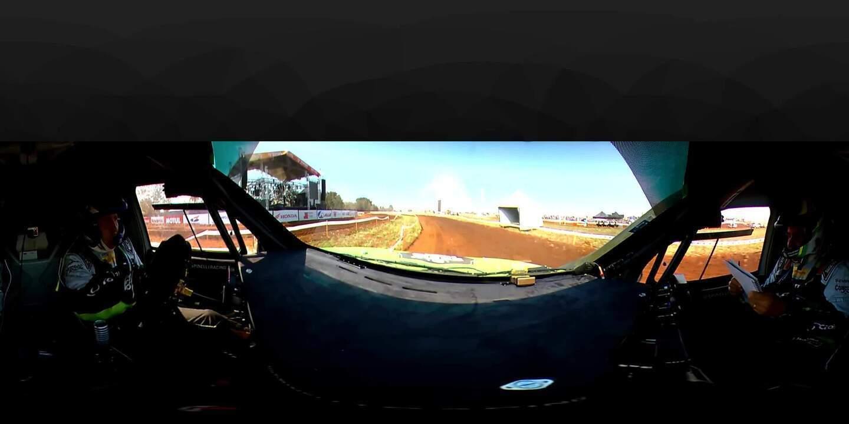 Câmera de bordo dos multicampeões do Rally dos Sertões  Guilherme Spinelli e Youssef Haddad, da Mitusbishi...