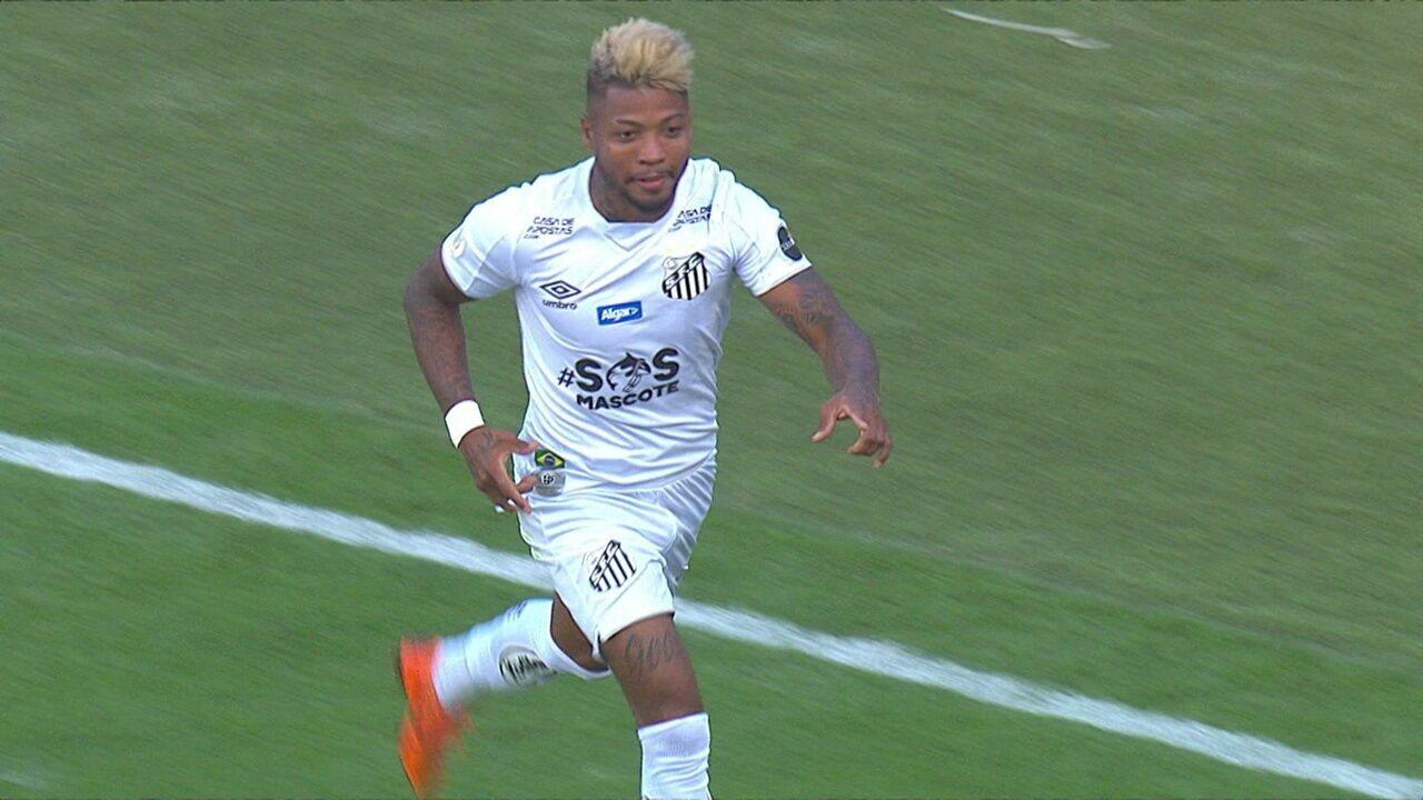 Os gols de Santos 3 x 3 Fortaleza pela 16ª rodada do Brasileirão