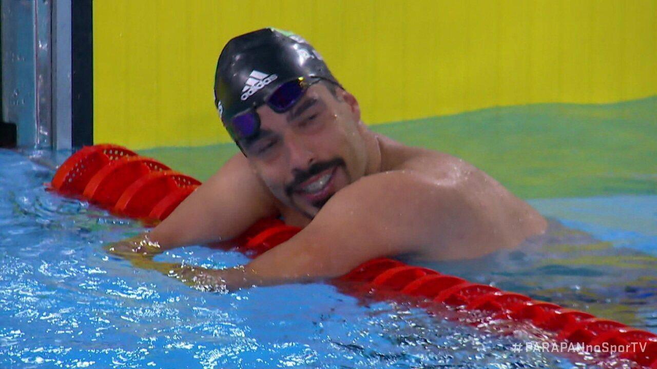 Daniel Dias vence os 50m costas do Parapan de Lima