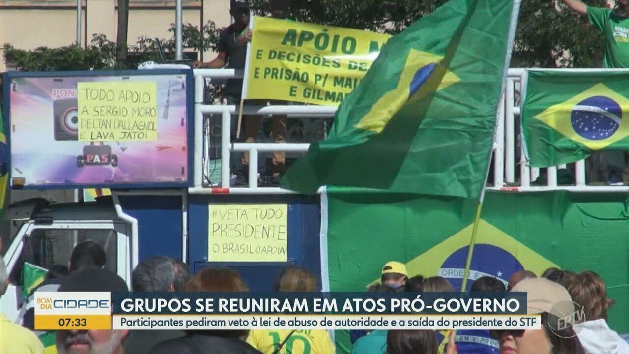 Grupos se reúnem em atos pró-governo neste domingo (25)