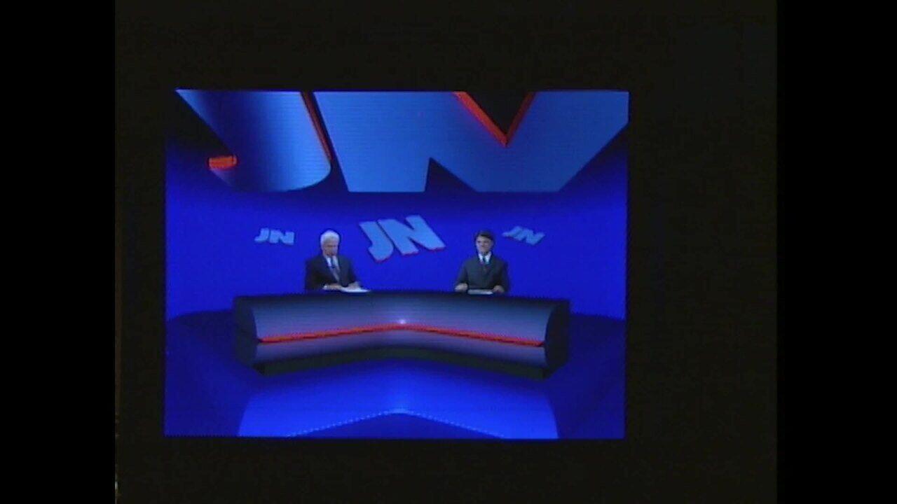 Em 1996, 'Jornal Nacional' ganha cenário novo