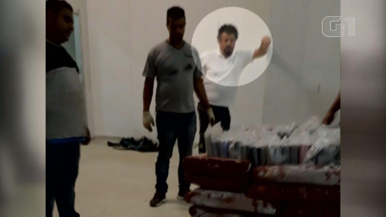 Eduardo é flagrado em vídeo em que remessa de cocaína é escondida