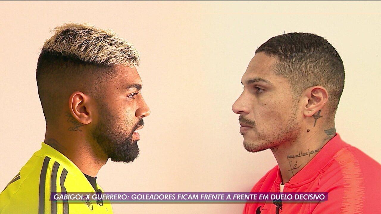 Saudade do meu ex? Ou prefiro o atual? Gabigol e Guerrero se enfrentam em duelo decisivo pela Libertadores