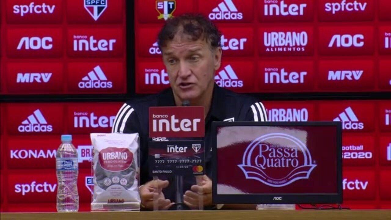 Cuca analisa o empate do São Paulo com o Grêmio no Morumbi