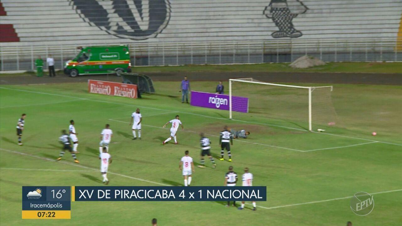 XV de Piracicaba goleia o Nacional por 4 a 1 e se recupera na segunda fase