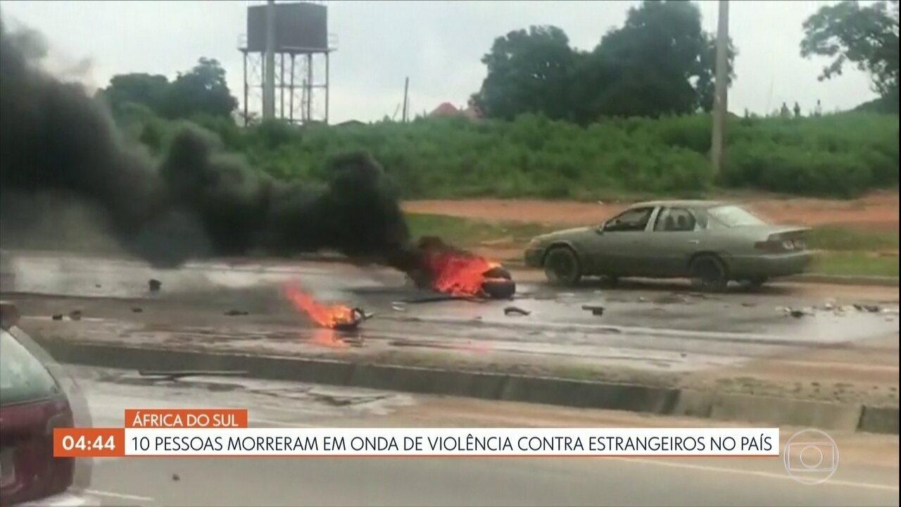 Dez pessoas morrem em onda de violência contra estrangeiros na África do Sul