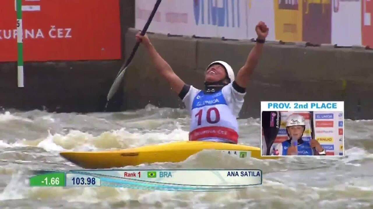 Ana Sátila é prata na Copa do Mundo de canoagem slalom em Praga: veja a prova