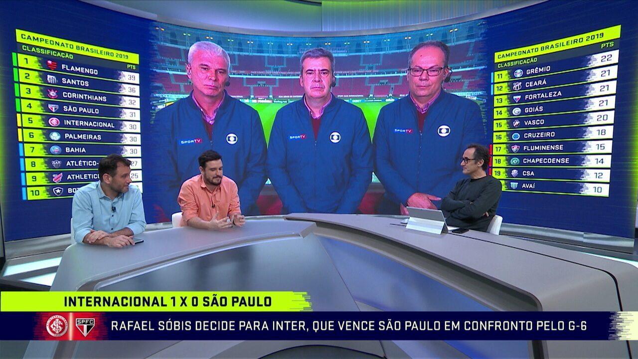 Comentaristas do Troca de Passes analisam vitória do Inter sobre o São Paulo