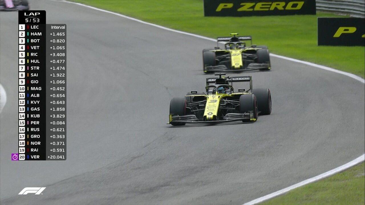 Ricciardo passa Hulkenberg e assume a quinta posição