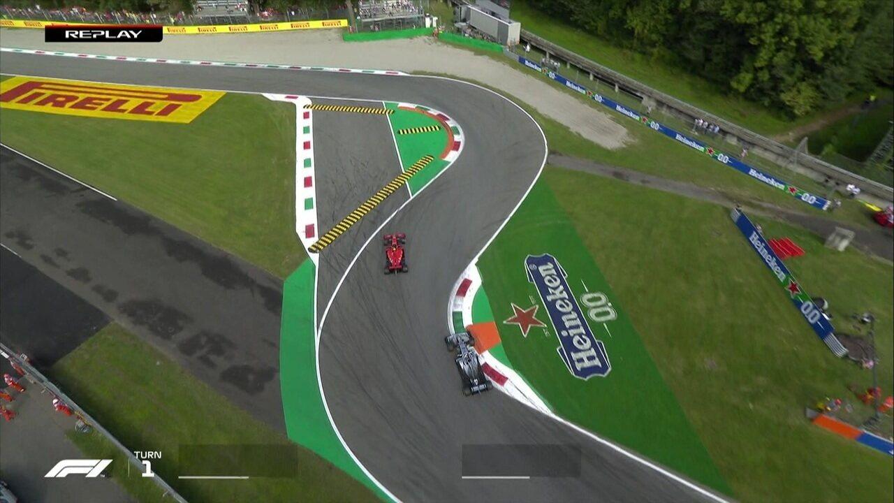 Lewis Hamilton parte para o ataque sobre Charles Leclerc