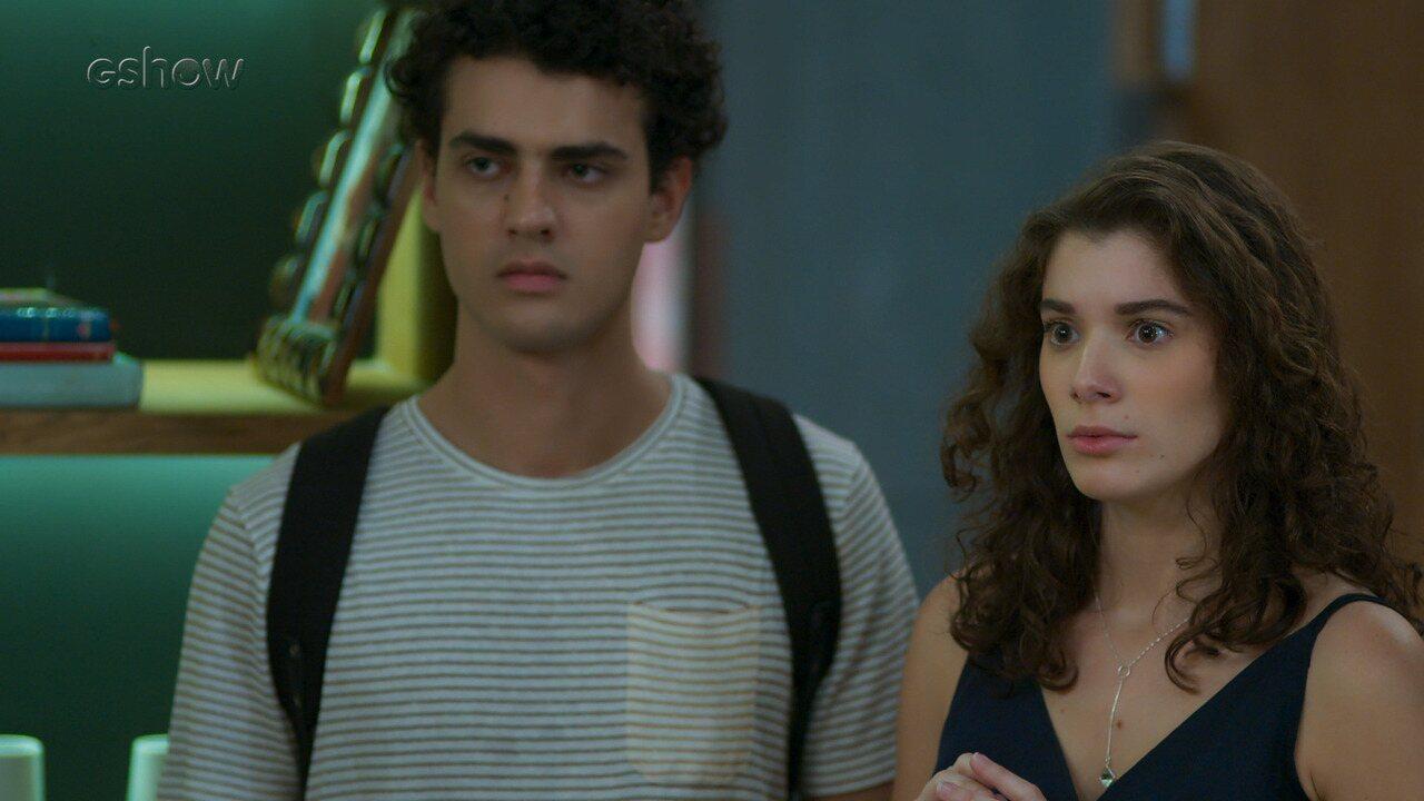 10/9 - Teaser 'Malhação - Toda Forma de Amar': Meg deseja que Guga seja o pai do seu bebê
