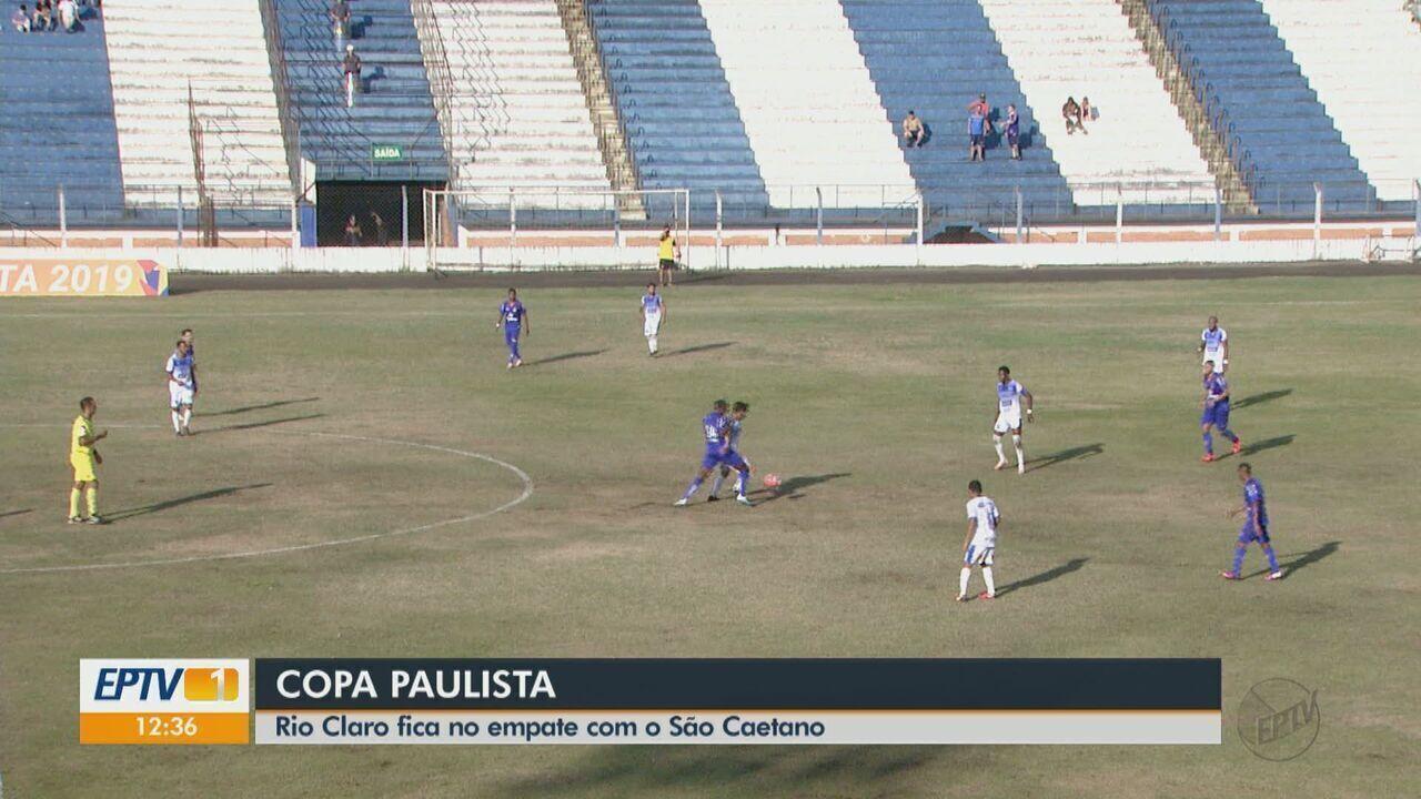 Copa Paulista: Rio Claro empata com o São Caetano