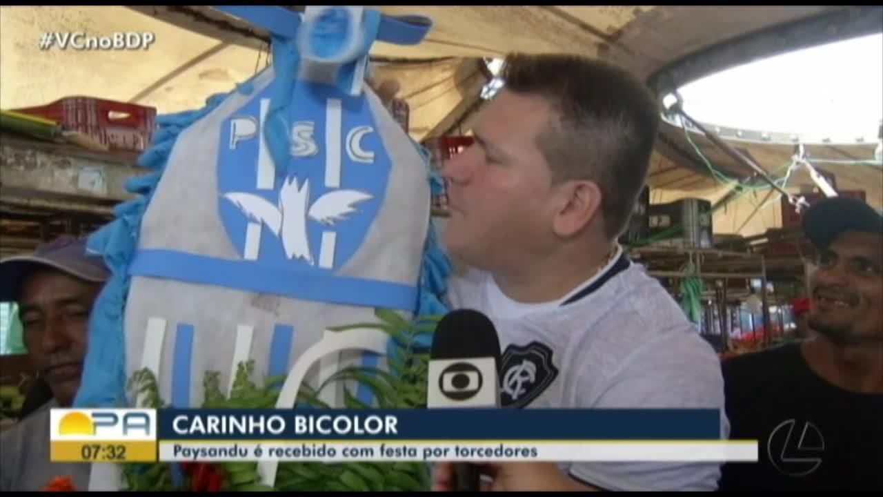 """Fiel demonstra apoio na volta do Paysandu e torcida do Remo promove """"enterro"""" do rival"""