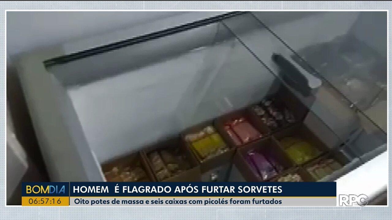 Homem é preso depois de furtar sorvete