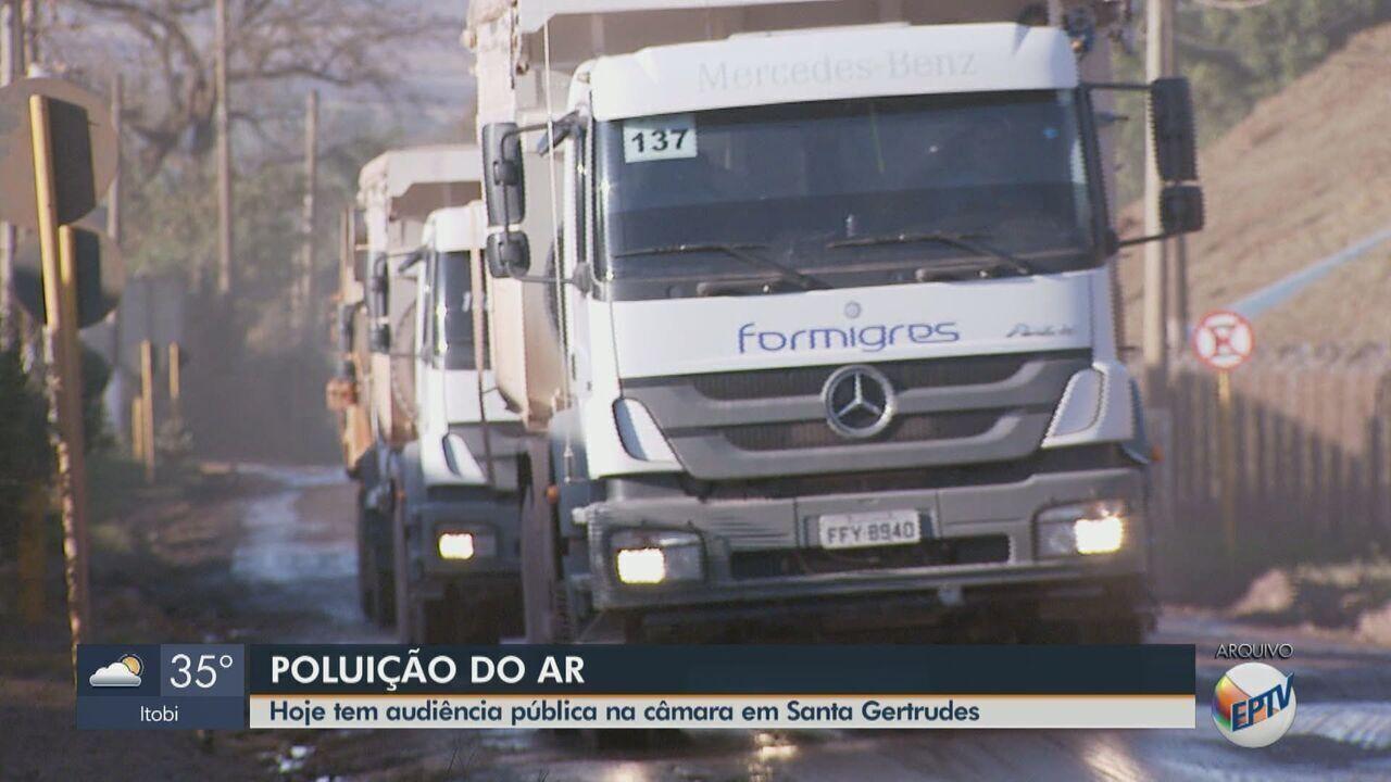 Câmara de Santa Gertrudes tem audiência pública sobre poluição do ar nesta quarta-feira