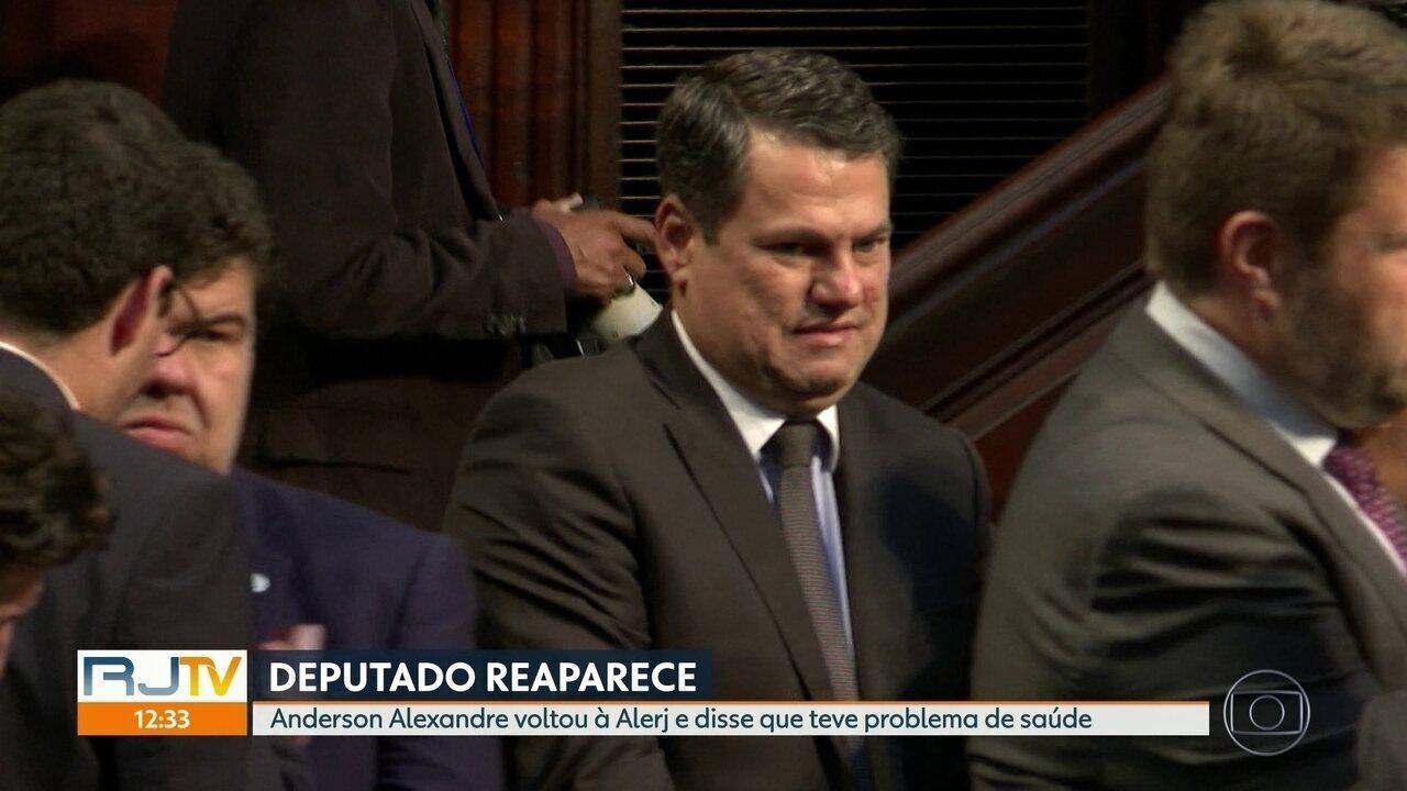 Deputado reaparece: Anderson Alexandre voltou à Alerj e disse que teve problema de saúde