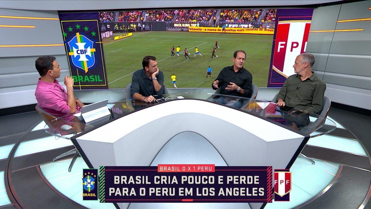 """Comentaristas analisam derrota da Seleção para o Peru: """"Para que serviu o amistoso?"""""""
