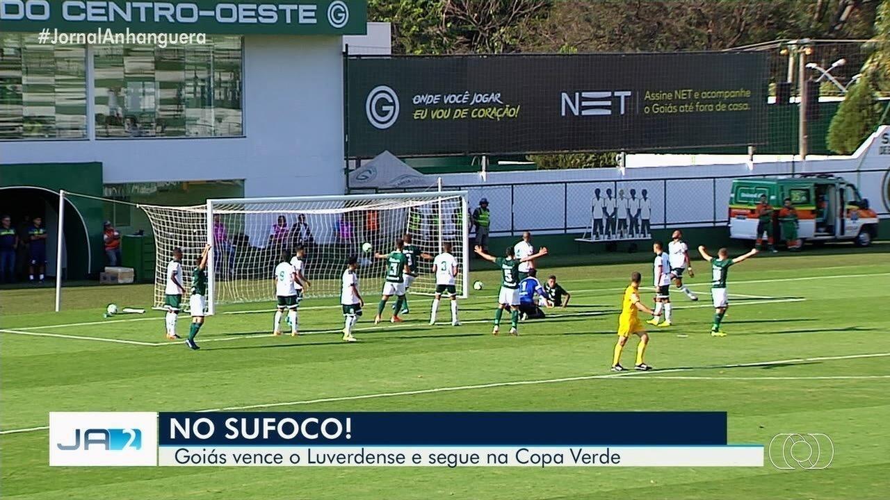 Goiás passa sufoco, mas bate o Luverdense e avança na Copa Verde