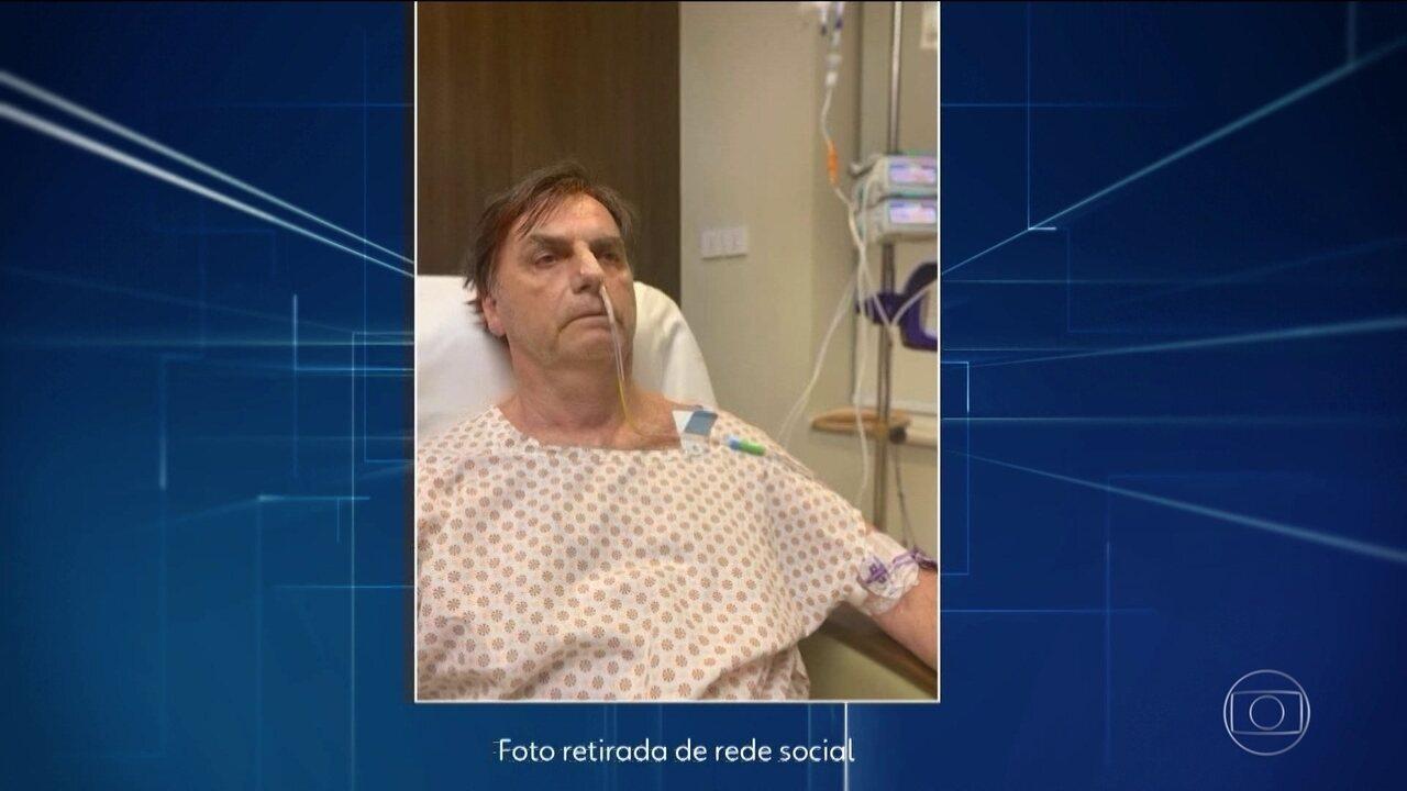 Médicos suspendem alimentação via oral de Bolsonaro