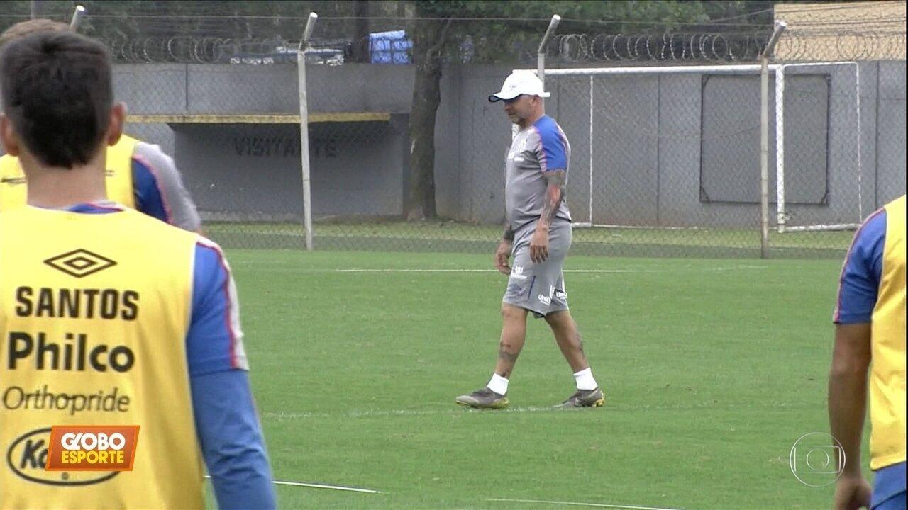Veja como está a preparação do Santos para o jogo contra o Flamengo