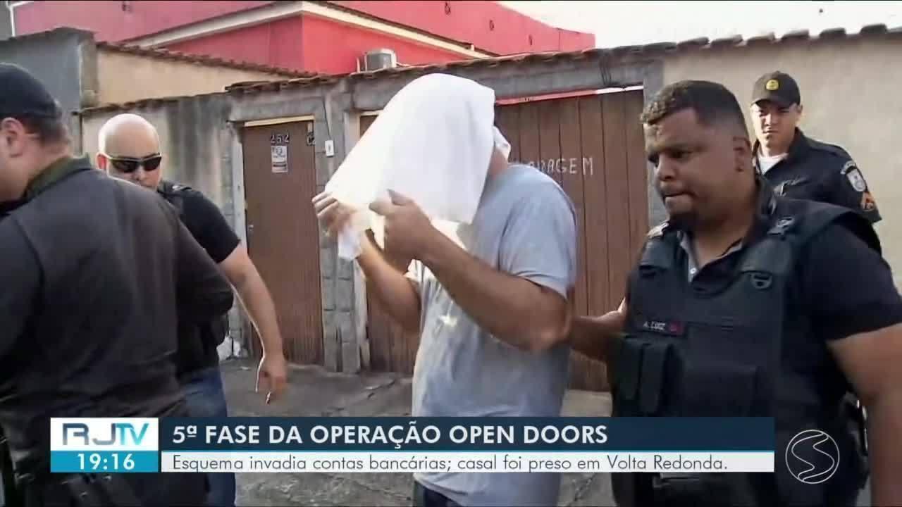 Casal é preso em Volta Redonda durante operação contra quadrilha de hackers