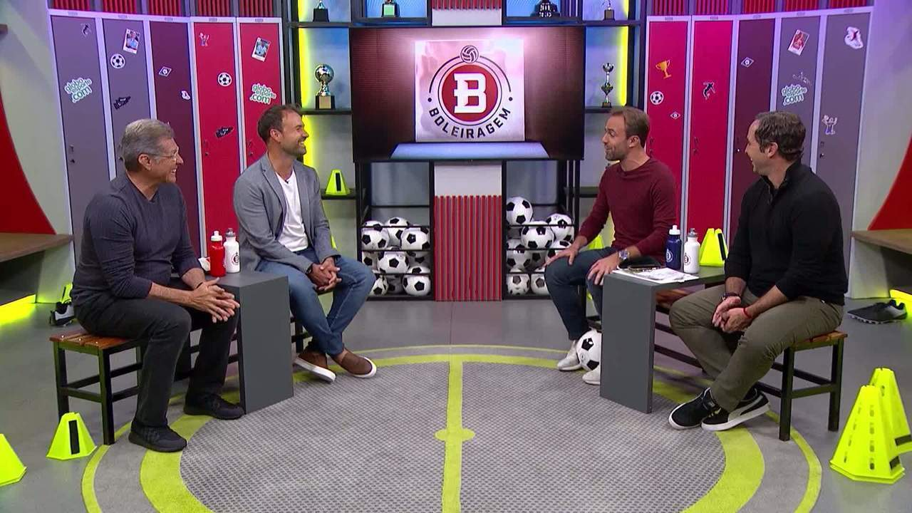 Roger Flores reencontra Sidney Moraes, Oswaldo de Oliveira e Caio Ribeiro no Boleiragem