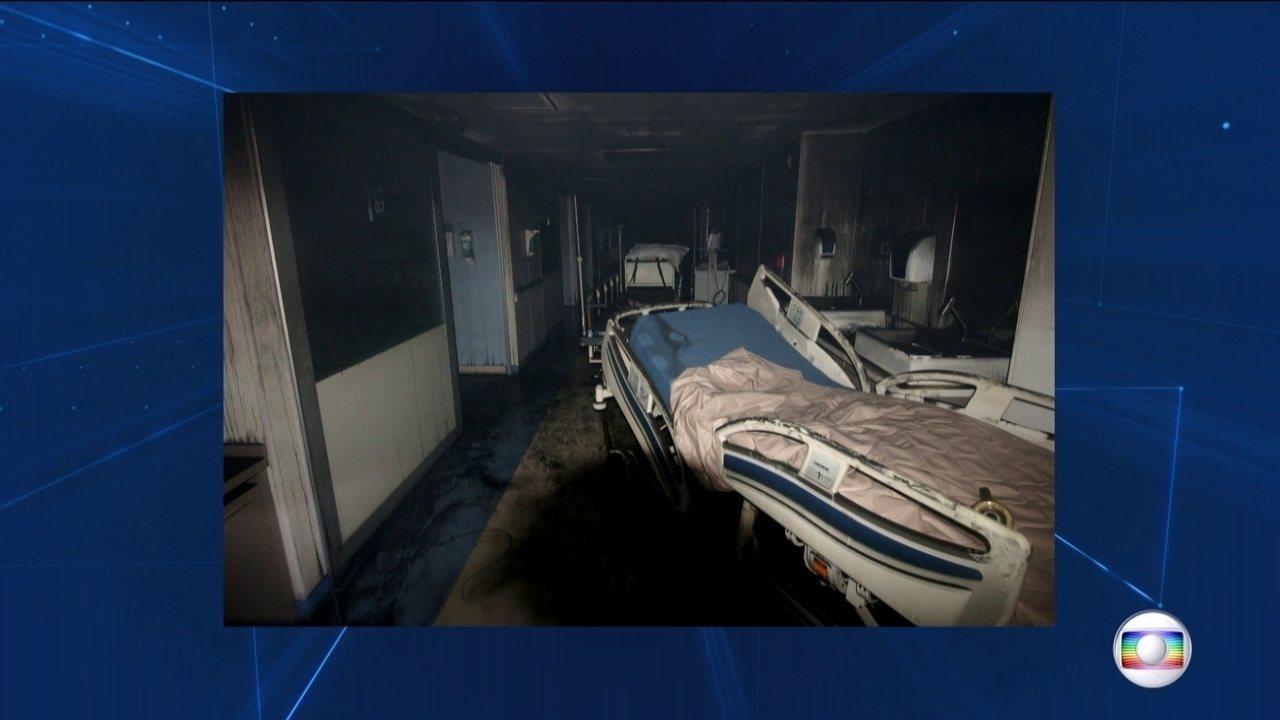 Imagens exclusivas mostram como ficou hospital no Rio atingido por incêndio