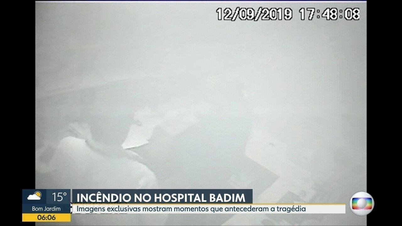 Imagens mostram que funcionários demoraram a perceber gravidade da situação no Badim