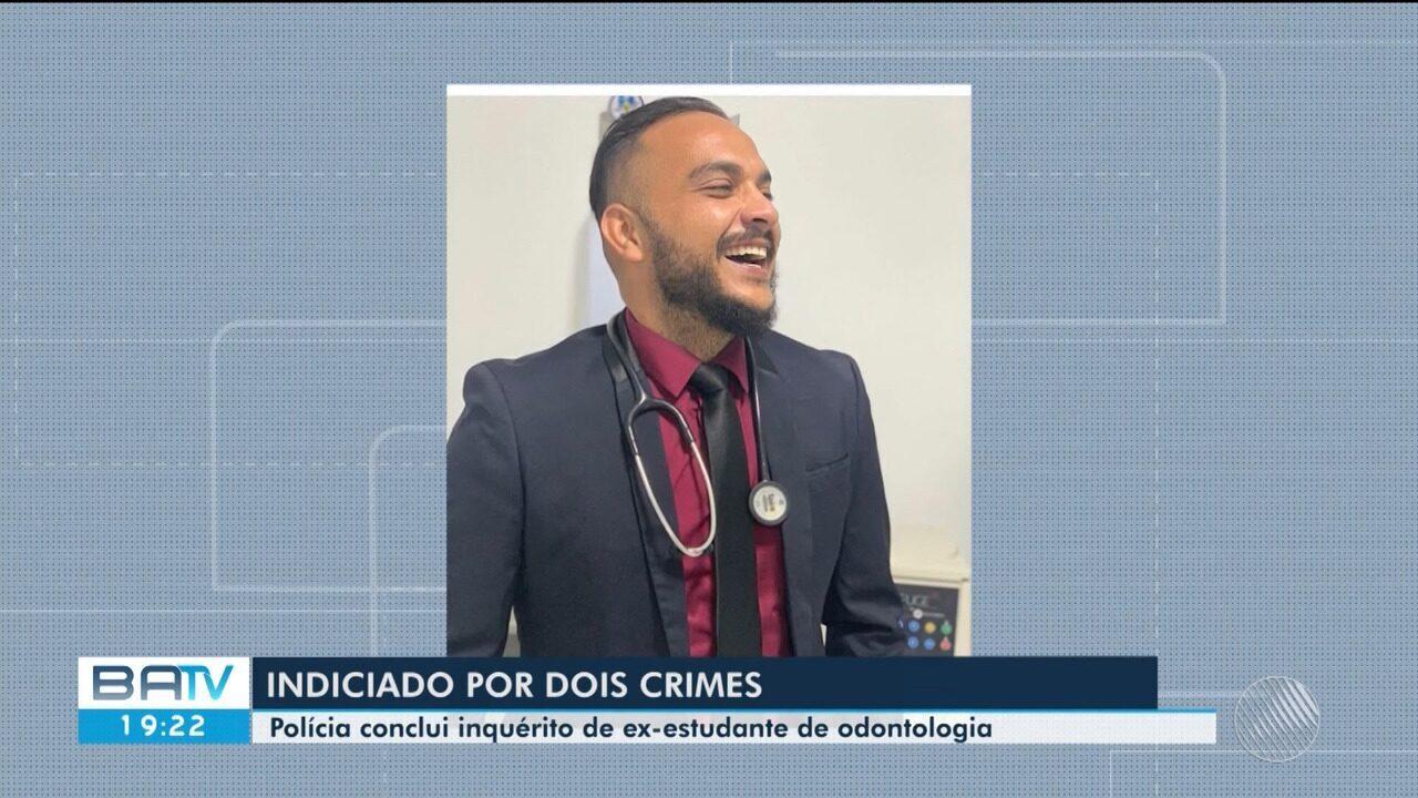 Polícia conclui inquérito e indicia falso dentista por 2 crimes após lesões em pacientes