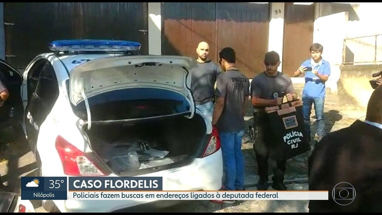 Polícia cumpre mandados de busca e apreensão em endereços ligados à deputada Flordelis