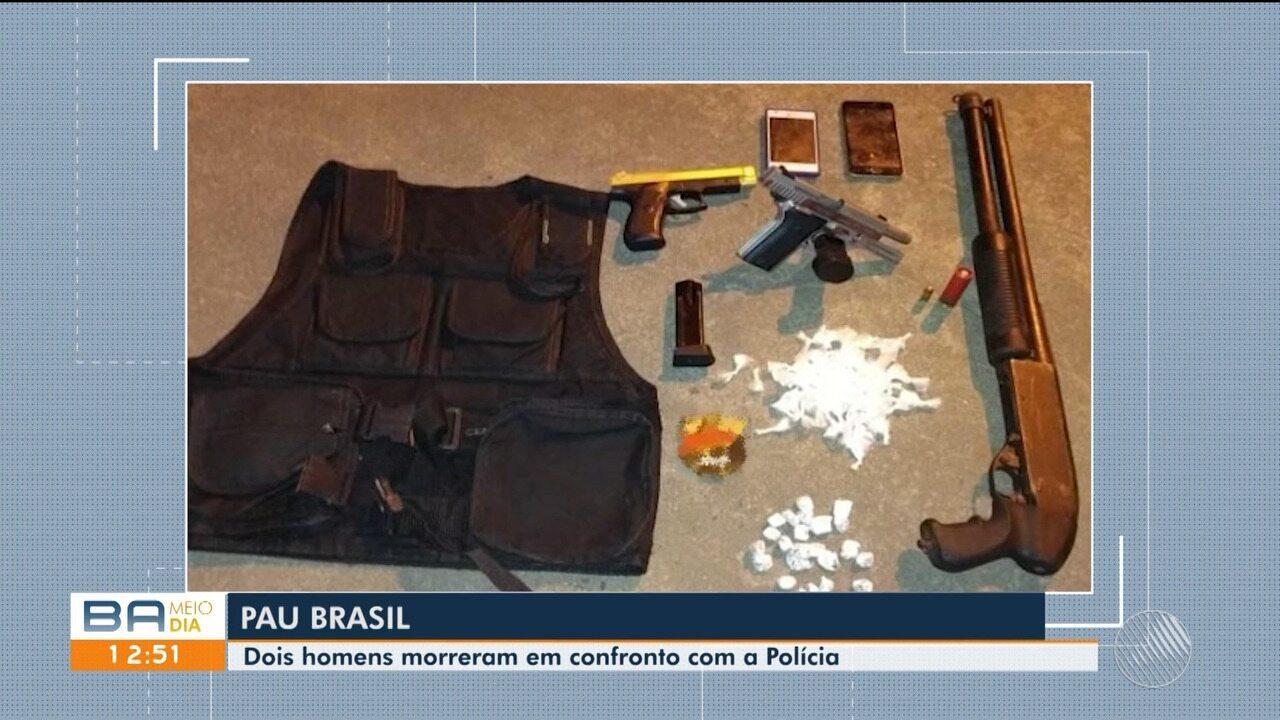 Dois homens não identificados morrem em confronto com a polícia no município de Pau Brasil