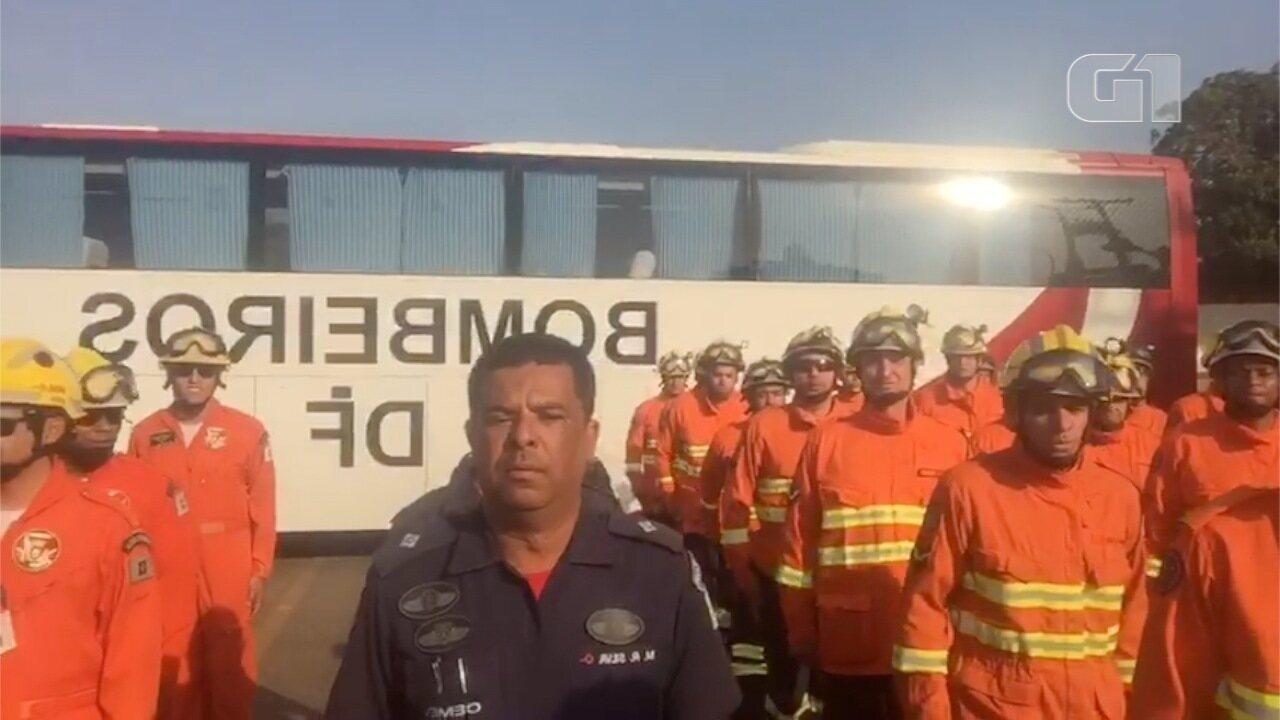 Bombeiros do DF embarcam para MS para ajudar na luta contra incêndios florestais