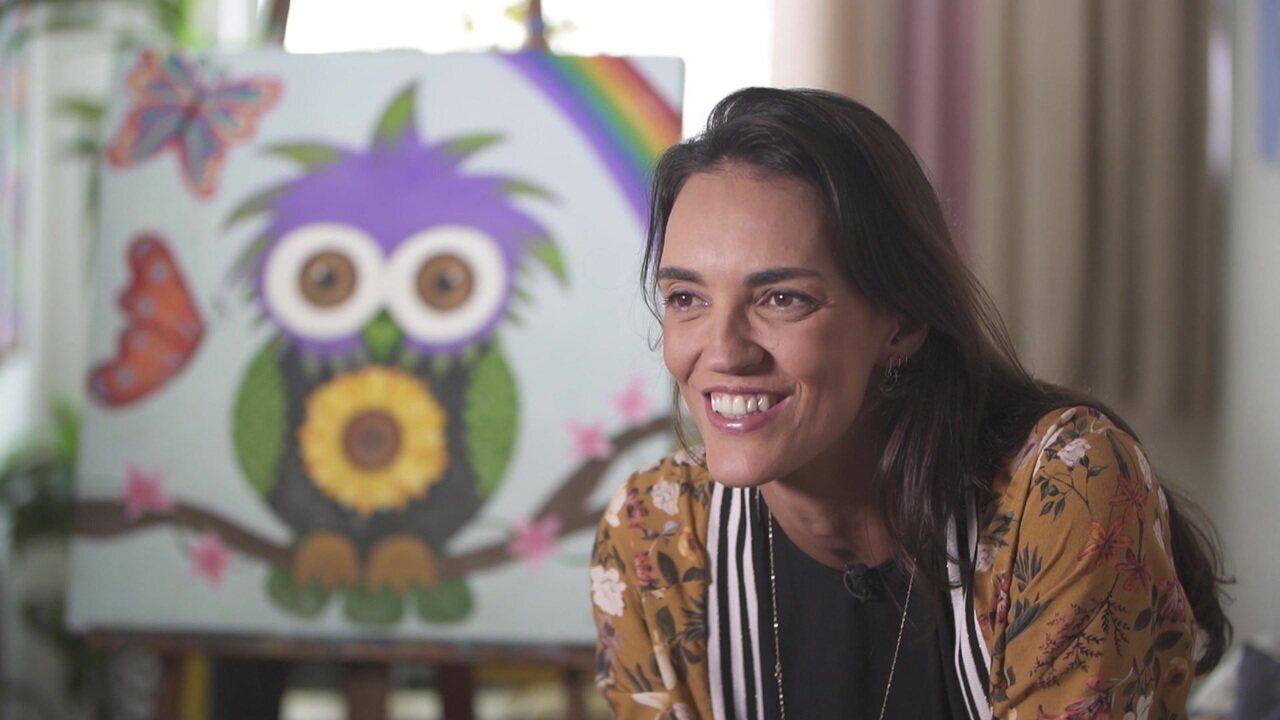 Dia de Folga: Fernanda Berti usa a pintura como forma de concentração