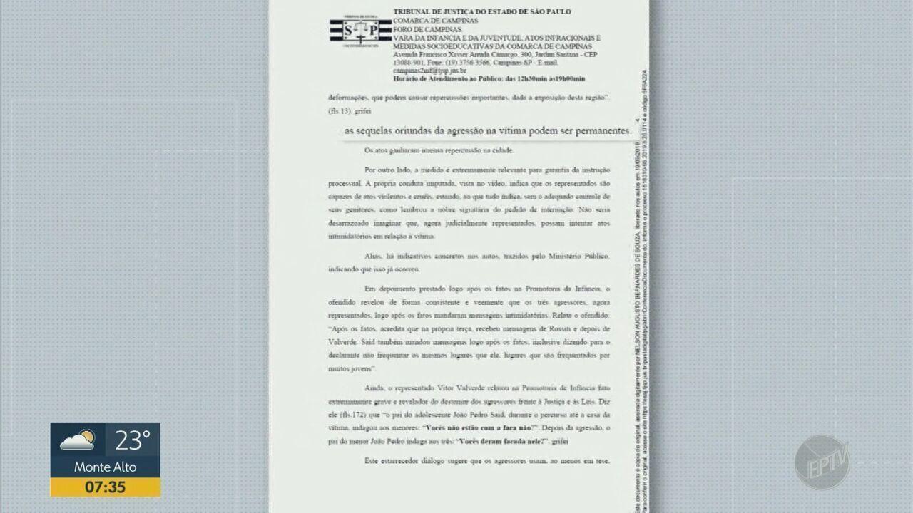 Justiça determina internação de trio suspeito de espancar adolescente em Campinas