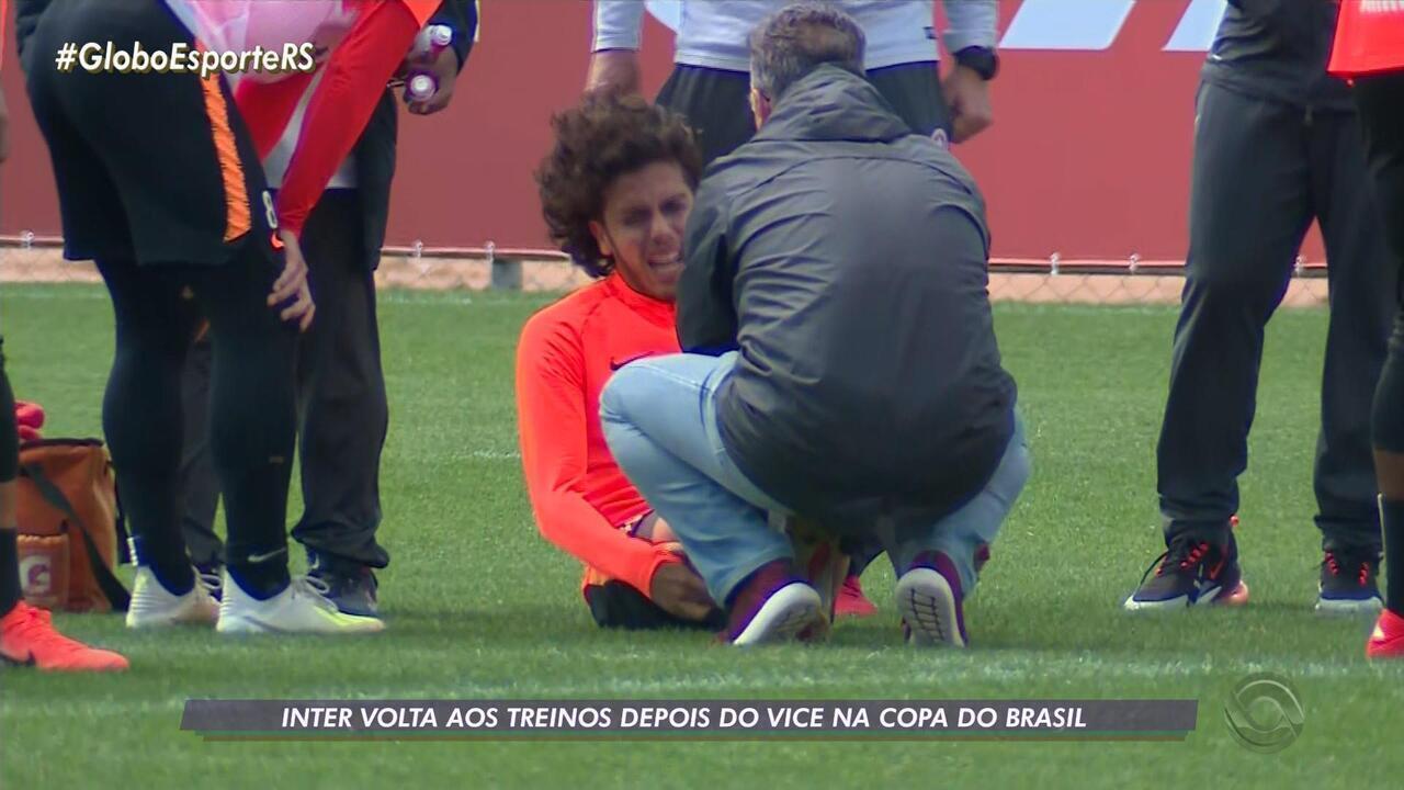 Inter volta aos treinos após o vice da Copa do Brasil e Nonato sente dores no tornozelo