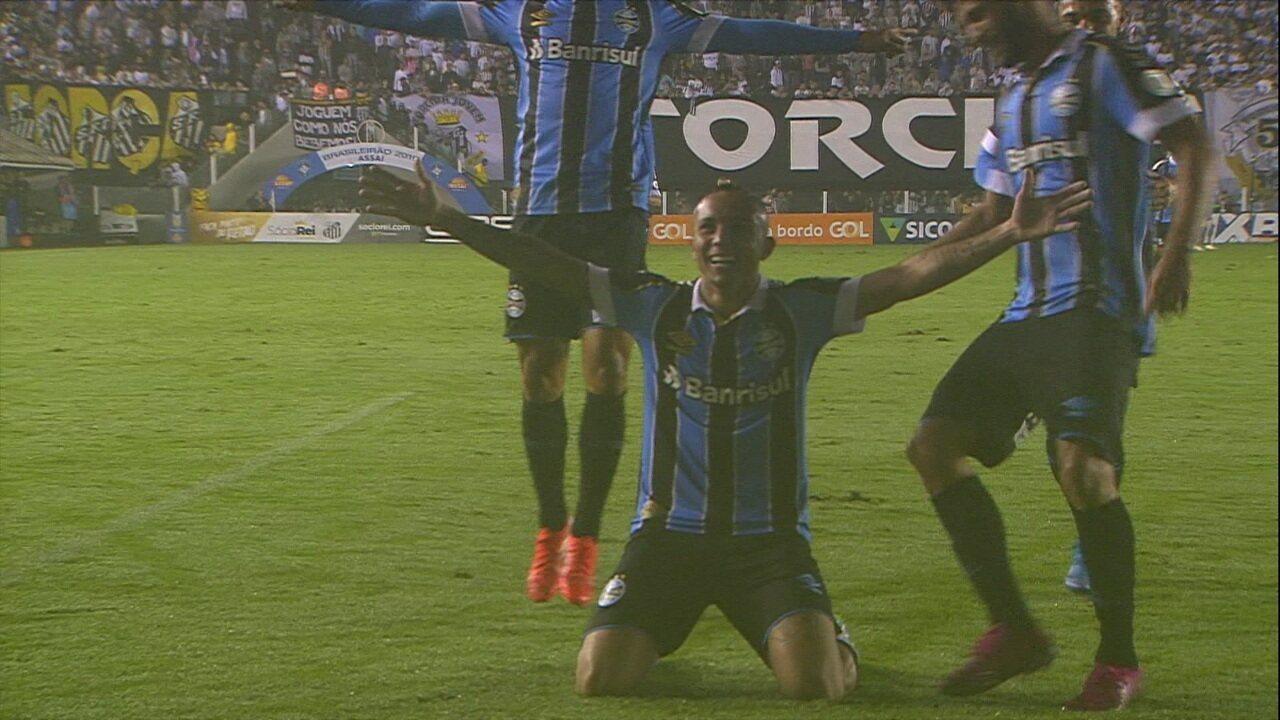 Os gols de Santos 0 x 3 Grêmio pela 20ª rodada do Brasileirão 2019