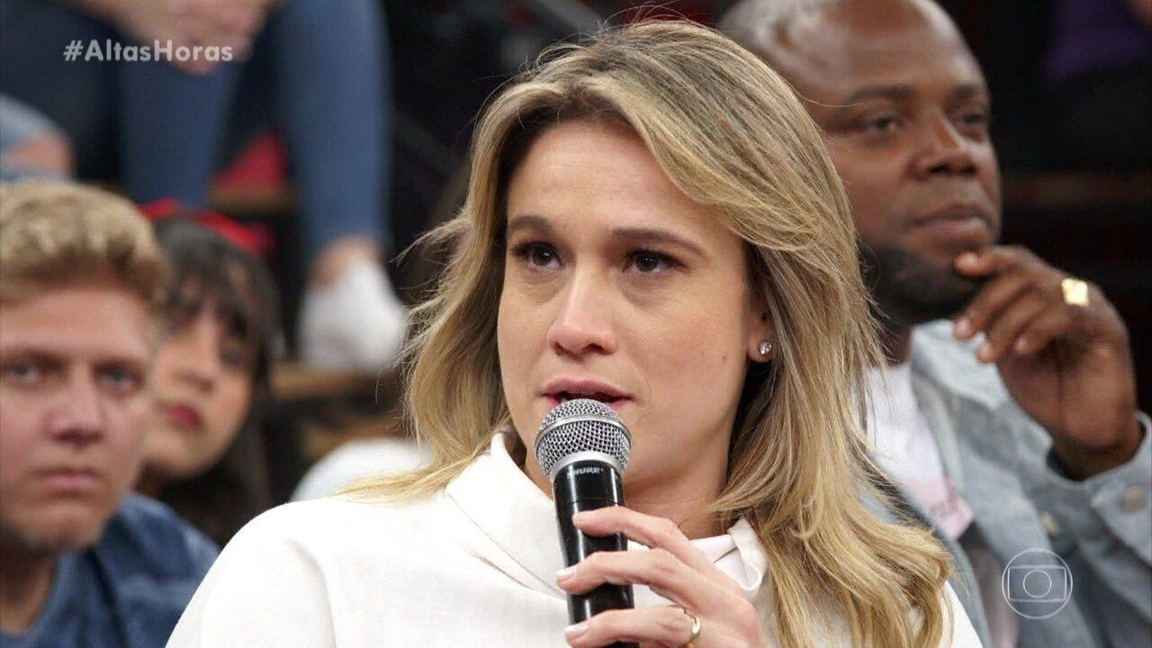 Fernanda Gentil responde pergunta sobre o esporte ser uma área de maioria masculina