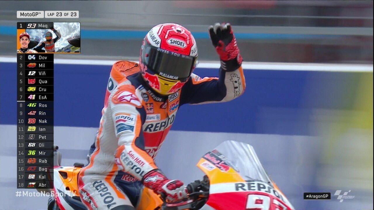 Marc Marquez vence o GP de Aragão da Moto GP