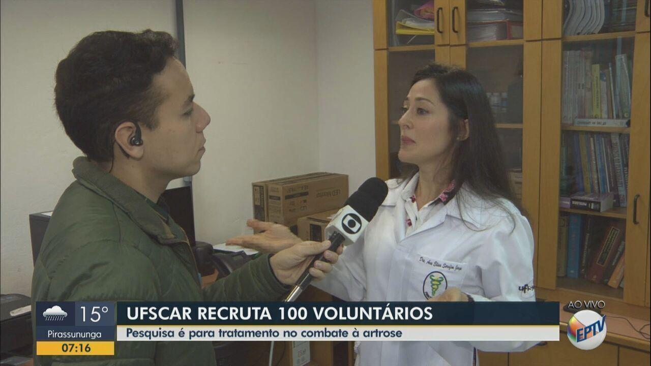 Pesquisa da UFSCar busca 100 voluntários para tratamento de artrose em São Carlos