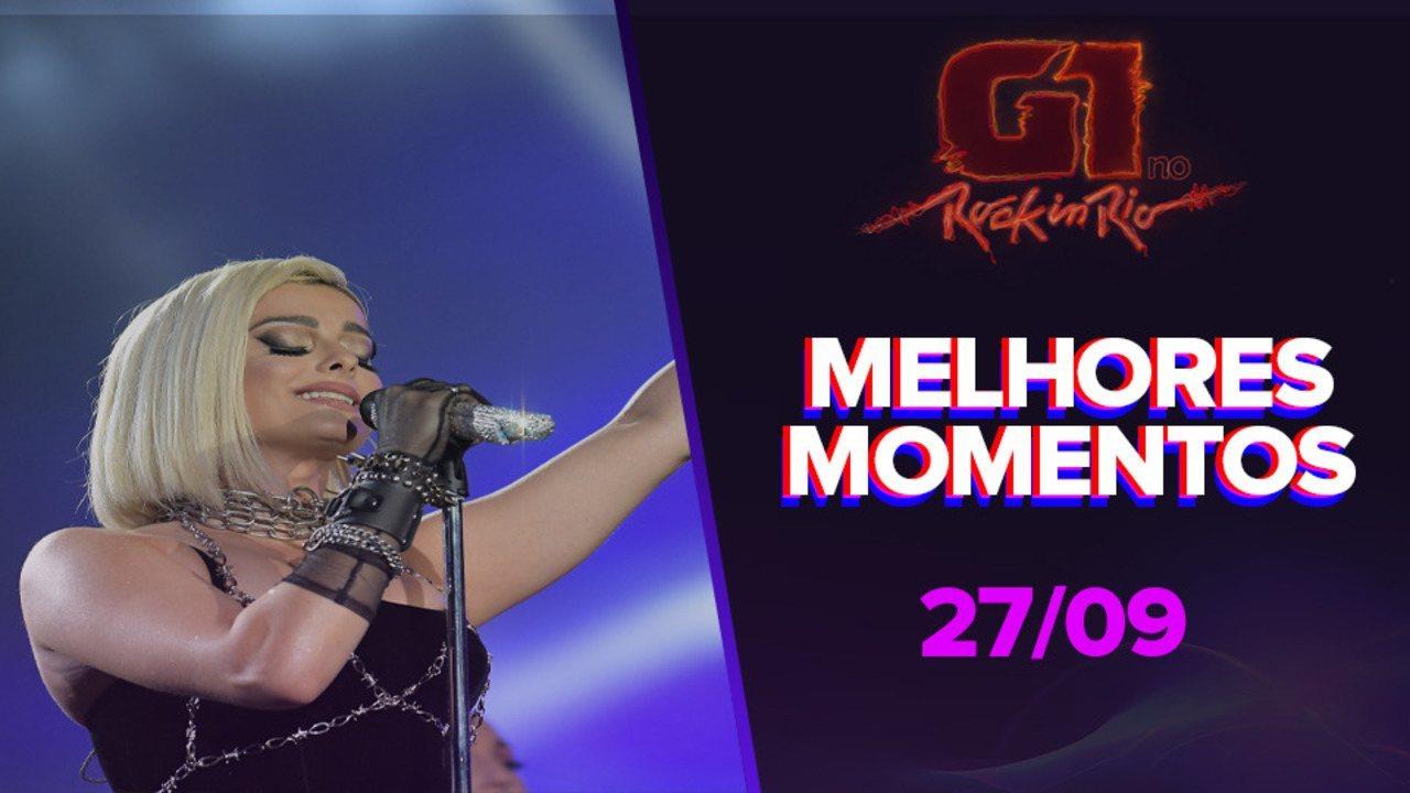 Veja melhores momentos do show desta sexta-feira (27) no Rock In Rio