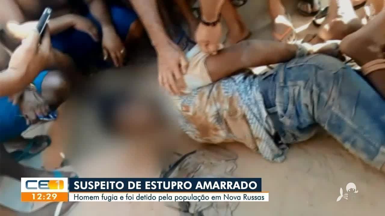 Suspeito de estuprar criança em Hidrolândia é amarrado por moradores