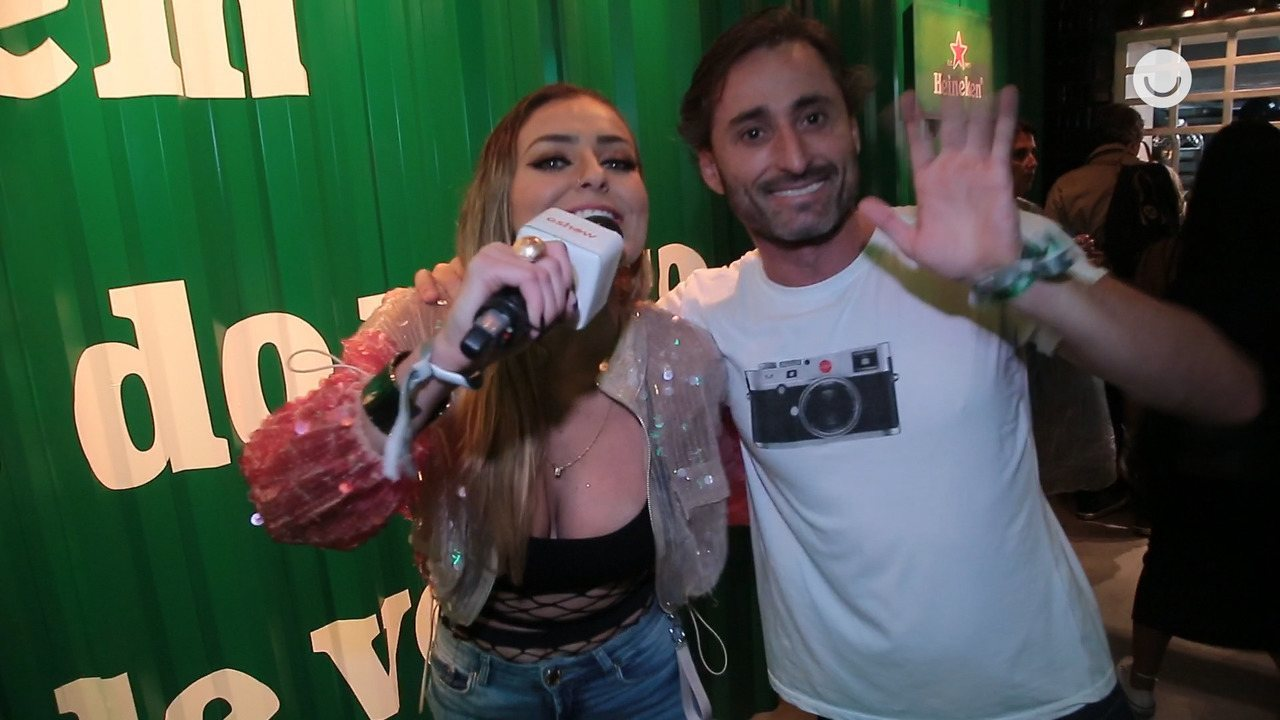 Paula Von Sperling, vencedora do BBB19, curte Rock in Rio com namorado, Daniel Guimarães