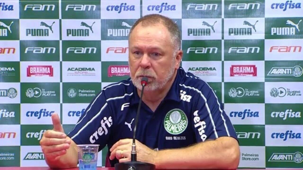 Veja como foi a entrevista do técnico Mano Menezes após o empate do Palmeiras com o Inter
