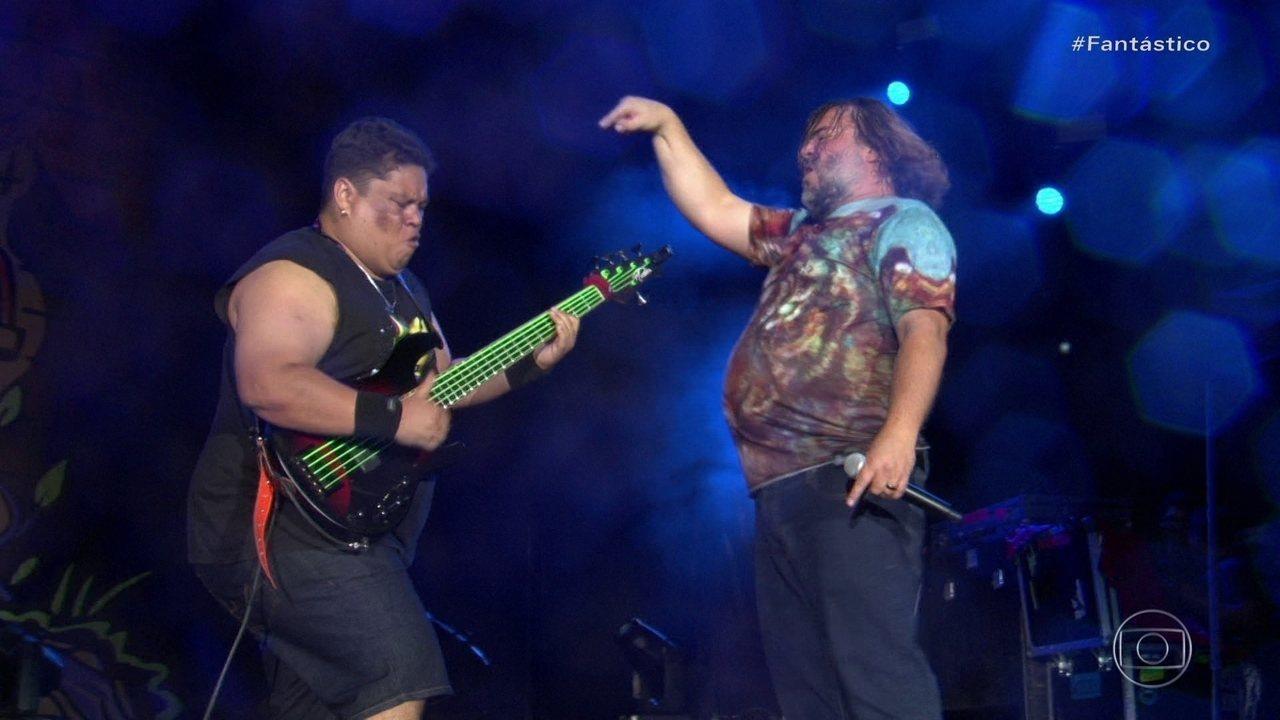 Fantástico acompanha noite de glória de baixista nordestino no Rock in Rio