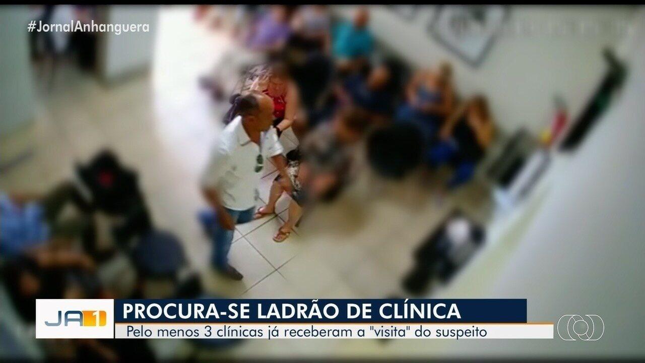 Polícia procura homem que furta clínicas médicas, em Goiânia