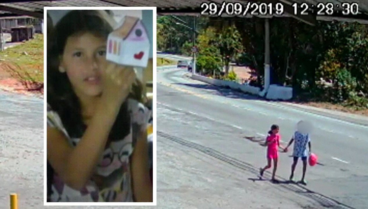 Vídeo mostra menina Raíssa andando com adolescente antes de ser morta