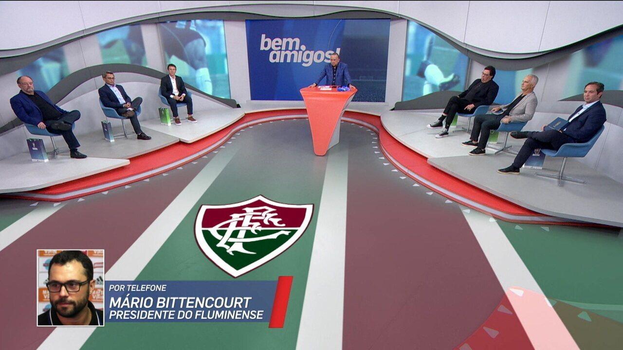 Mário Bittencourt fala ao vivo no Bem, Amigos! sobre a questão do Oswaldo e Ganso