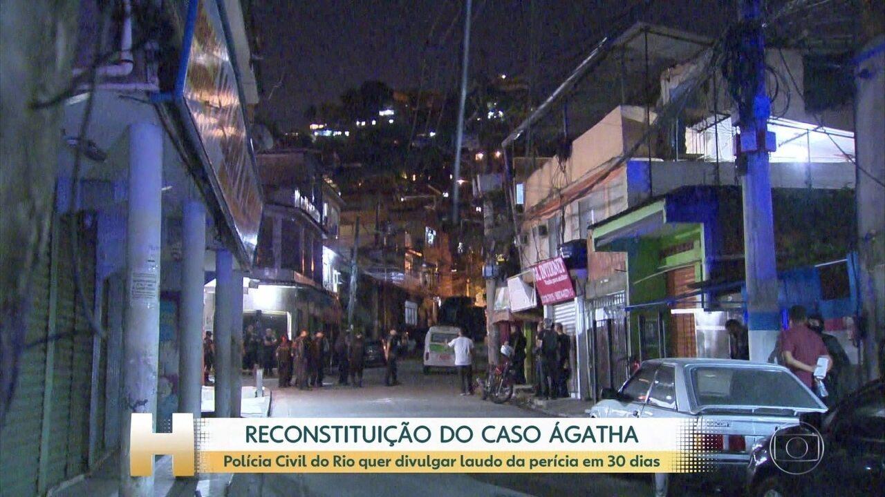 Só dois PMs investigados no Caso Ágatha participaram da reconstituição no Rio