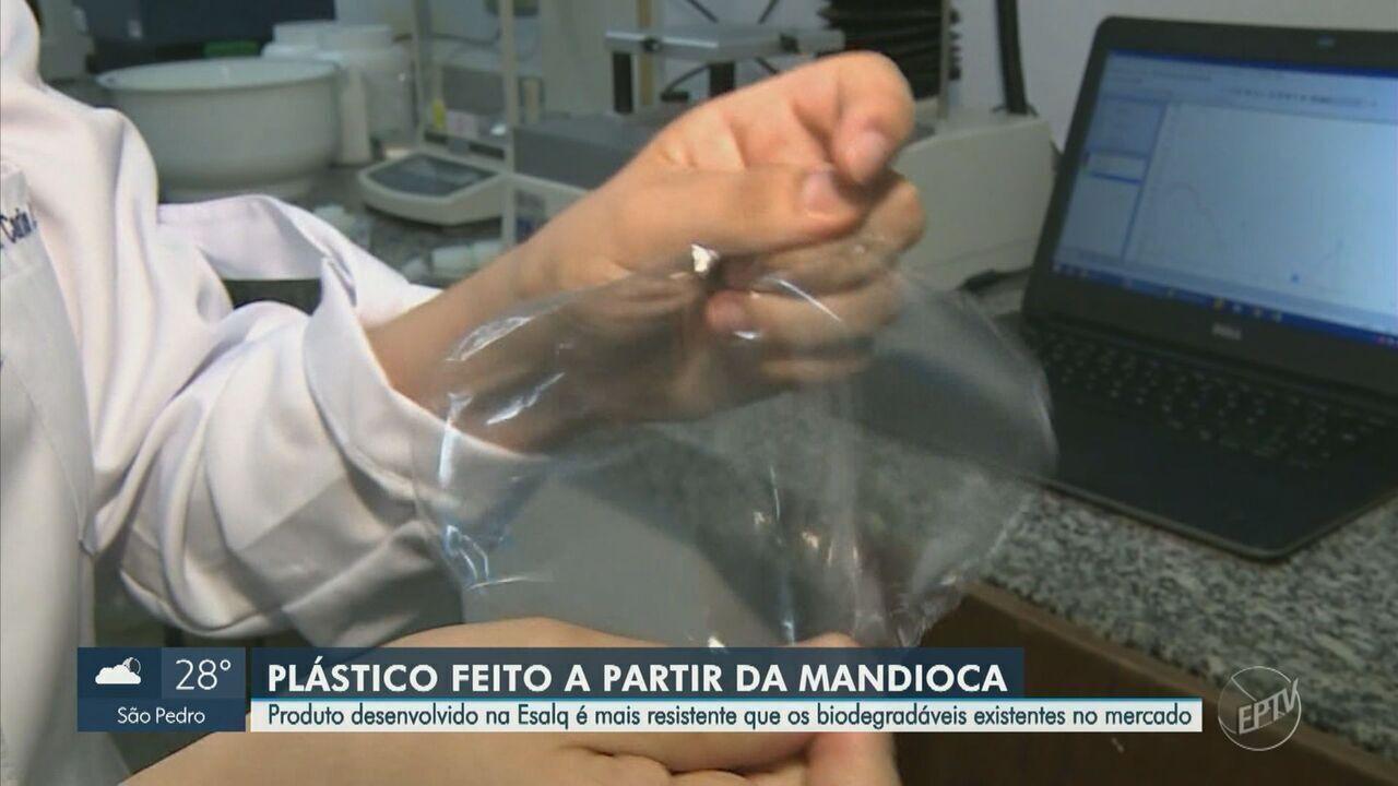 Pesquisadores da USP de Piracicaba criam plástico mais resistente a partir da mandioca