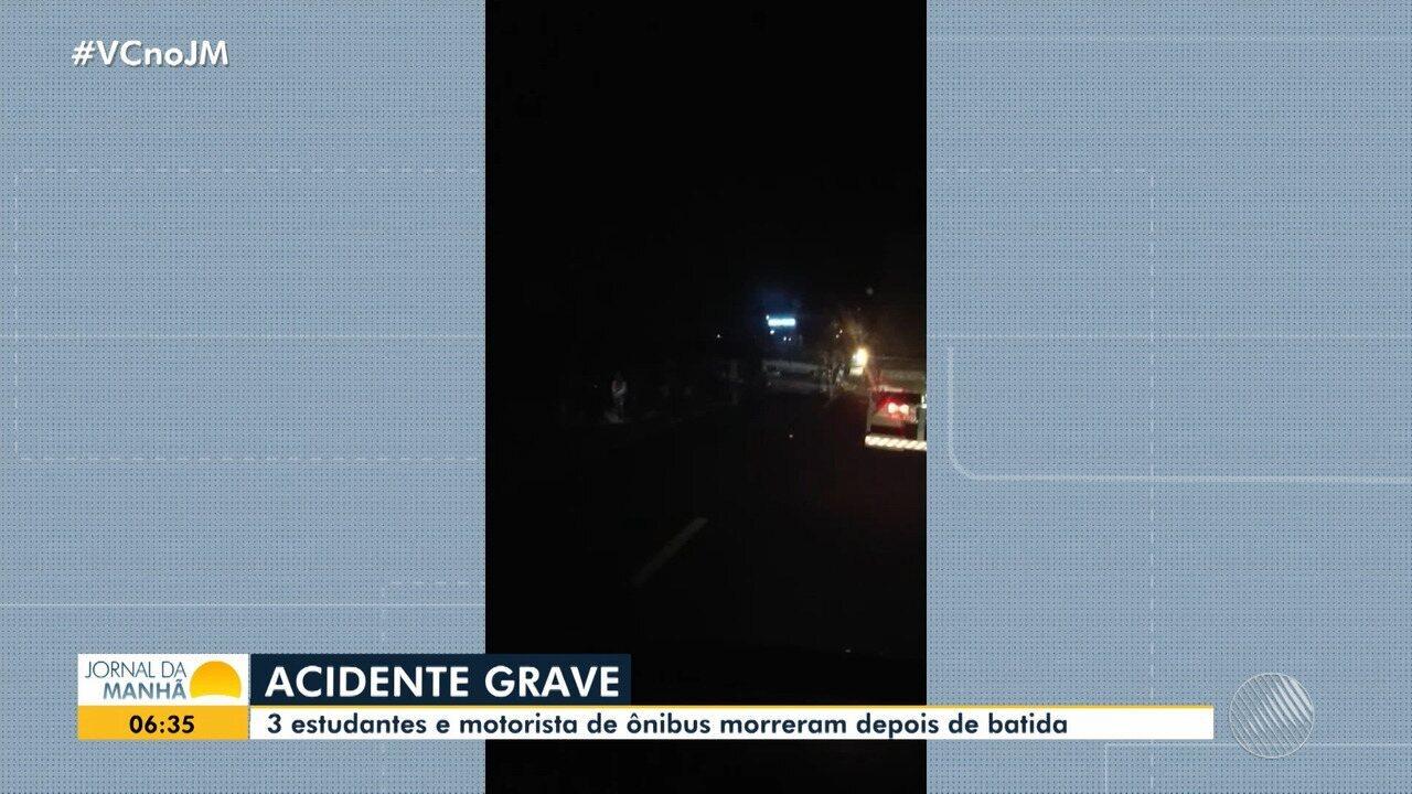 Motorista perde controle de caminhão e acidente deixa quatro mortos na noite de quarta